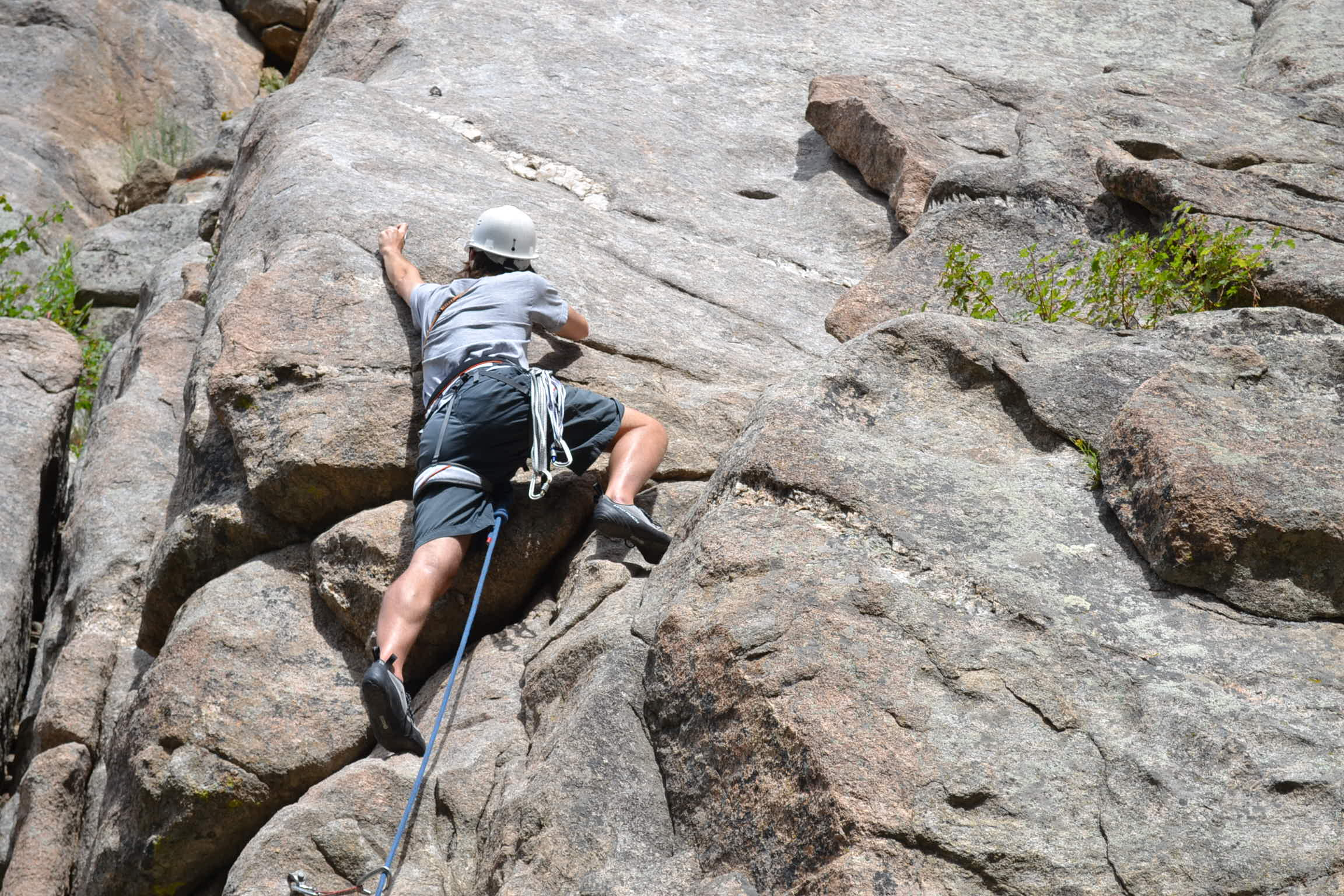 Dylan climbing in Colorado