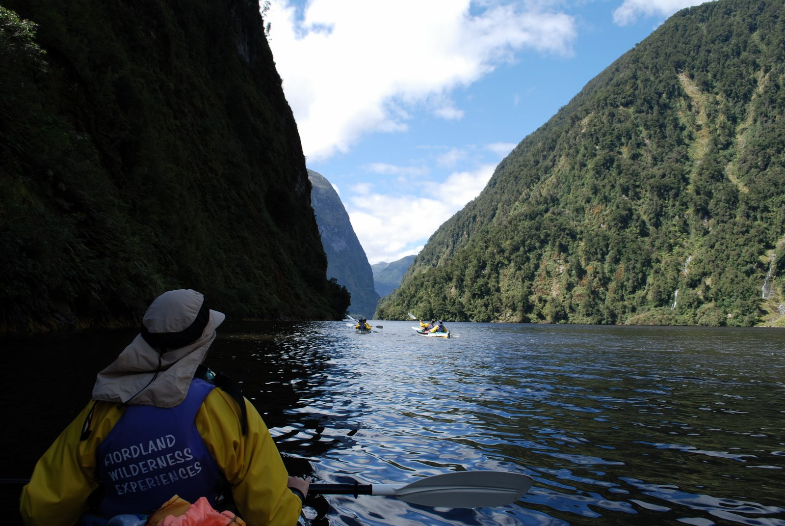 Kayaking in New Zealand's Doubtful Sound